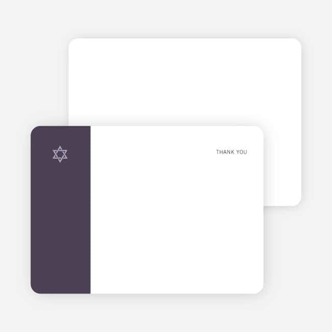 Note Cards: 'Simple Essence Star of David' cards. - Light Eggplant