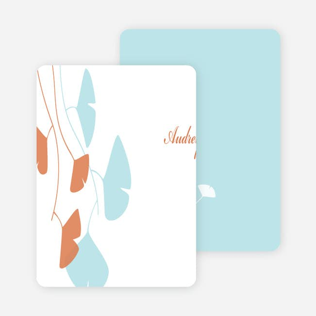 personal stationery for bridal shower invitations leaves paper