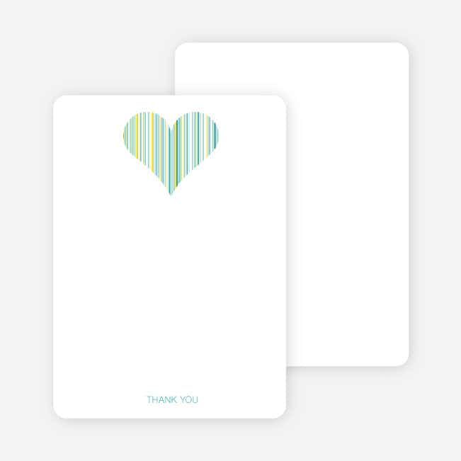 Stationery: 'True Love Bridal Shower' cards. - Aqua