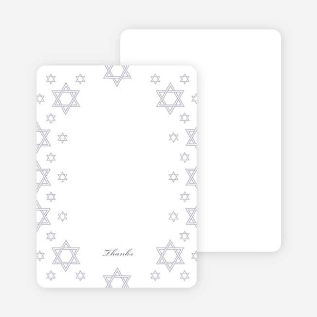 Notecards for the 'Star of David Border' cards. - Wisteria