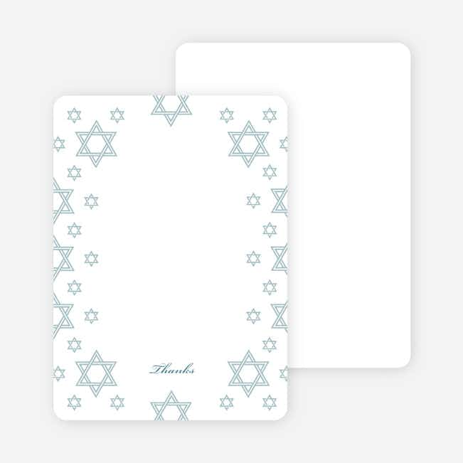 Notecards for the 'Star of David Border' cards. - Teal