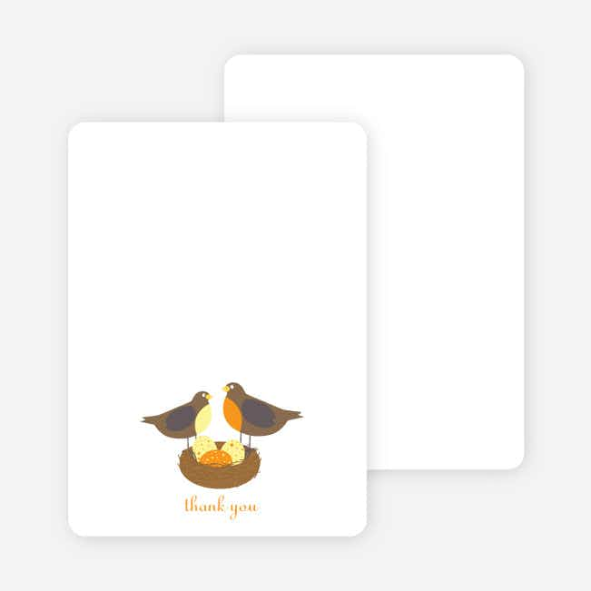 Stationery: 'Nesting Robins' cards. - Papaya