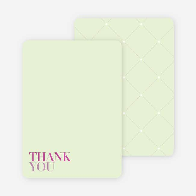 Thank You Card for Celebrate Good Times Invitation - Magenta