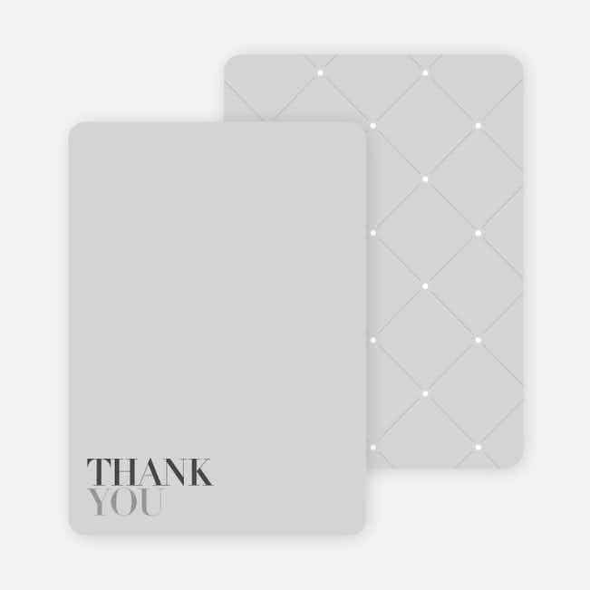 Thank You Card for Celebrate Good Times Invitation - Silver Grey