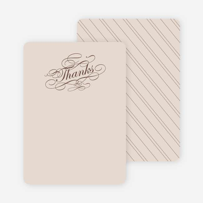 Thank You Card for Elegant, Yet Modern Cocktail Party Invitation - Cocoa