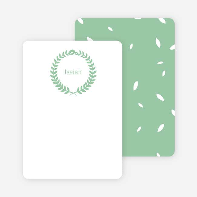 Wreath Personalized Stationery - Green