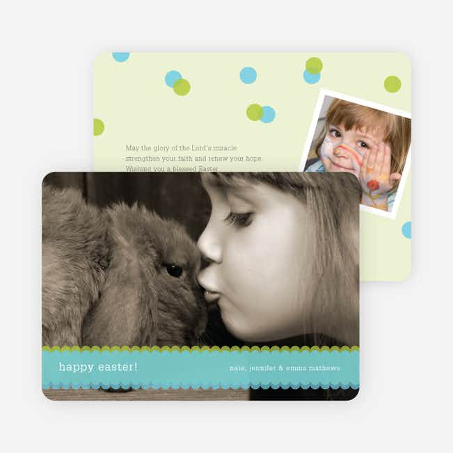 Happy Easter Photo Cards - Teal Tart