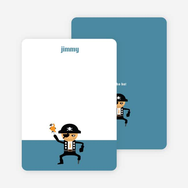 Note Cards: 'Shiver Me Timbers' cards. - Indigo