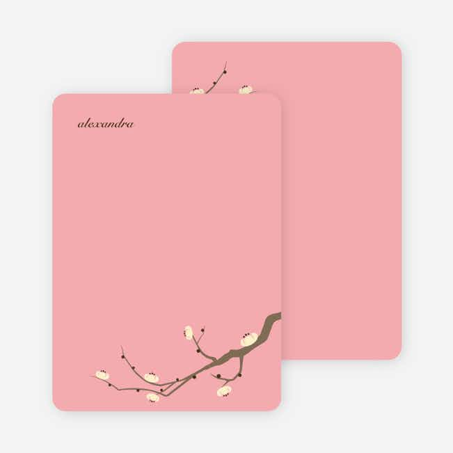 Stationery: 'Modern Tree Branch Memories' cards. - Dark Brown