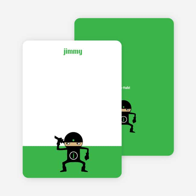 Stationery: 'Ninja Karate Master' cards. - Shamrock