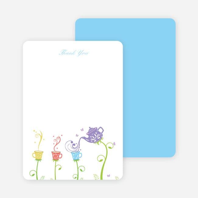 Thank You Card For Garden Tea Party