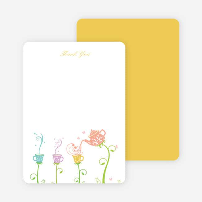 Thank You Card for Garden Tea Party Baby Shower Invitation - Salmon
