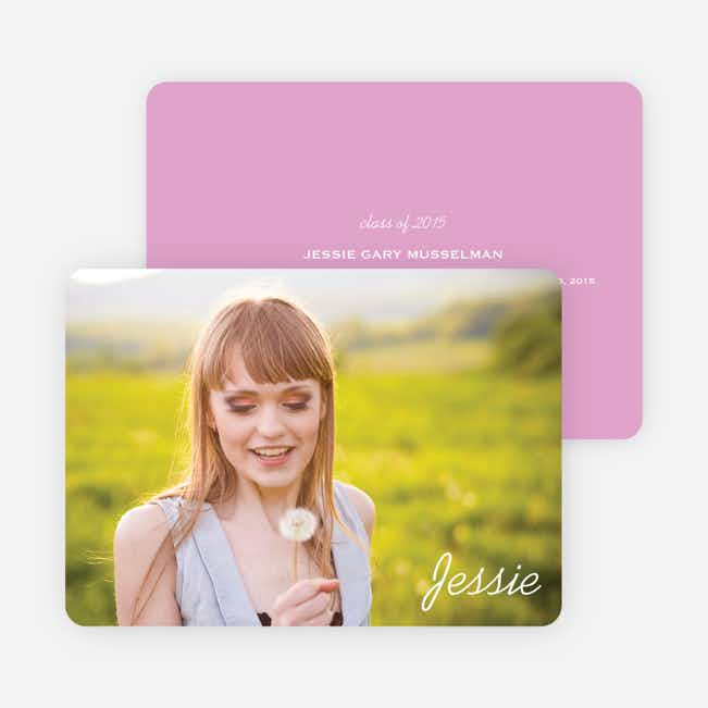 Chic Graduation Photo Announcements - Pink