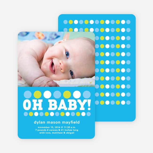 Oh Baby! Birth Announcements - Cornflower
