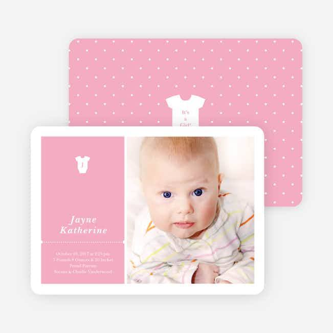 Onesie Tag Fresh Birth Announcements - Browsie