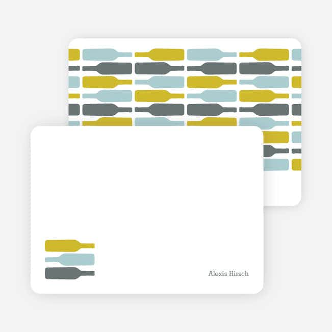 Personal Stationery for Fine Wine Party Invitation - Mustard