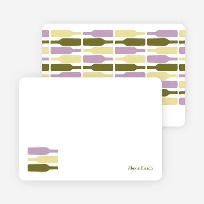 Personal Stationery for Fine Wine Party Invitation - Lavender