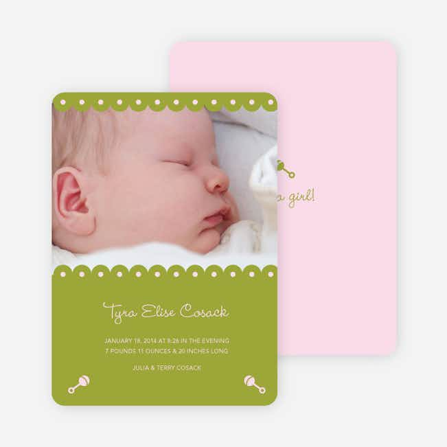 Shush, Rattle and Drool Birth Announcements - Bamboo