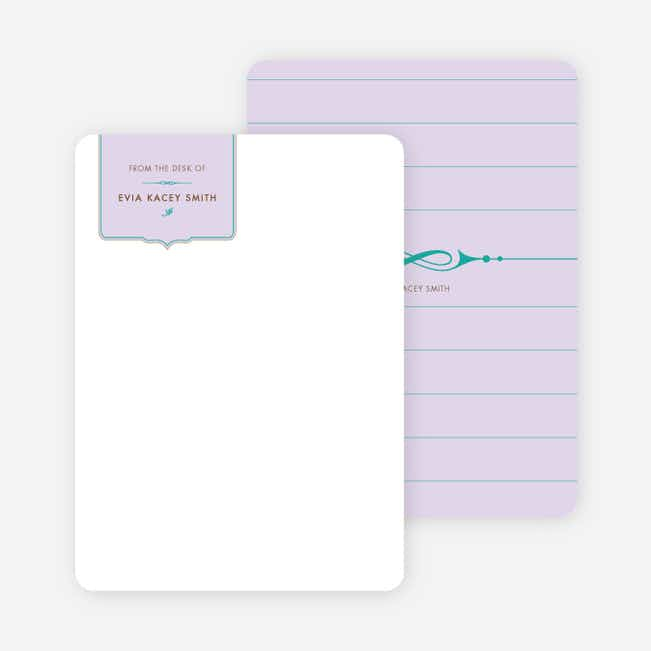 Stationery: 'Chic and Modern' cards. - Pale Wisteria