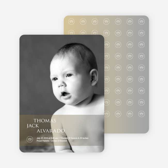 Studio Series Photo Birth Announcements - Light Brown