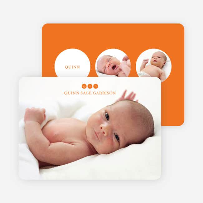 Triple Threat Birth Announcements - Orange