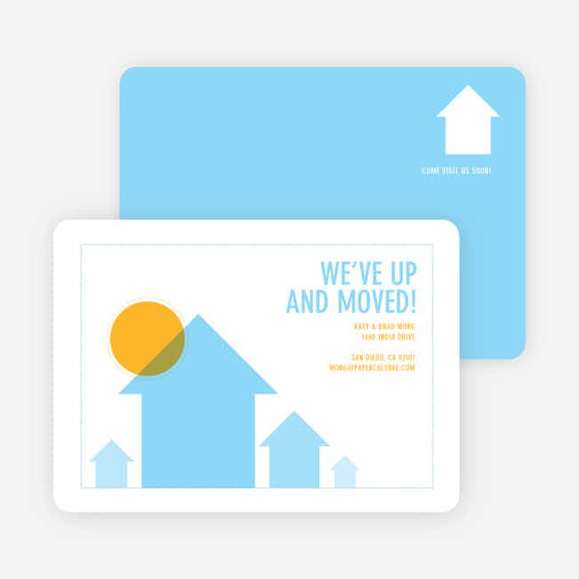 We've Up and Moved – Change of Address Cards - Blue Skyline