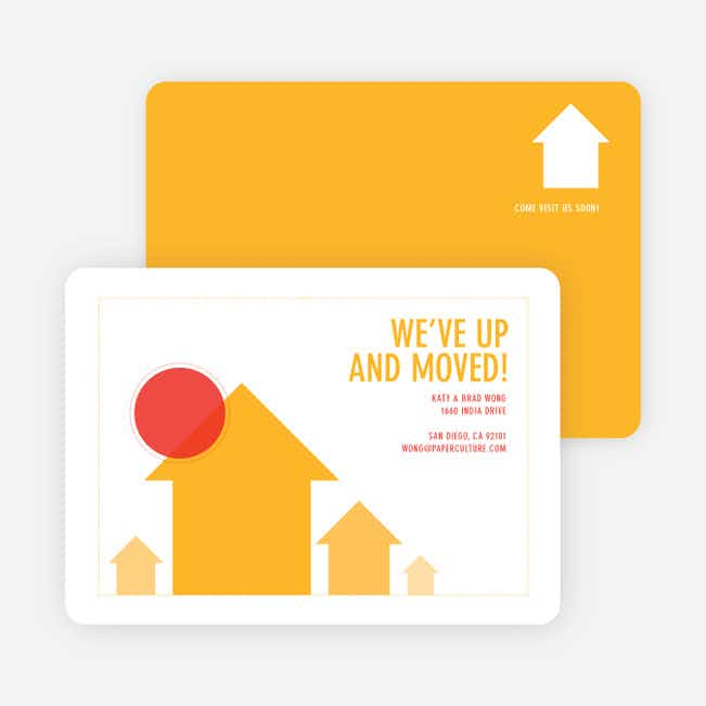 We've Up and Moved – Change of Address Cards - Yellow Horizon