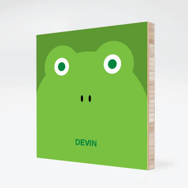 Frog Face Modern Wall Art - Paper Culture Green