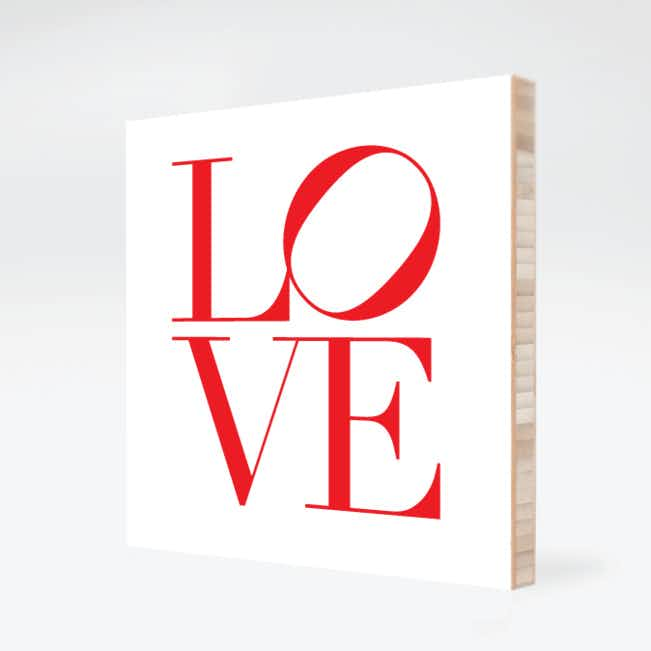 L O V E Wall Decor - White