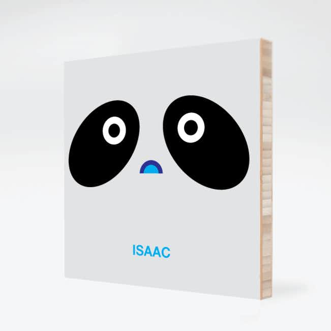 Panda Face Modern Wall Art - Black