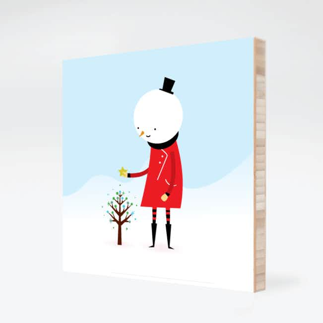 Whimsical Snowman Wall Art - Chili Pepper