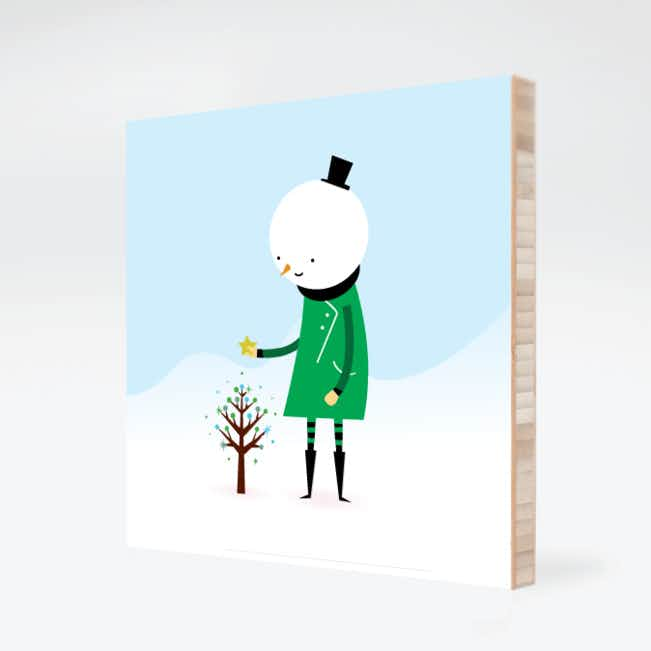 Whimsical Snowman Wall Art - Shamrock
