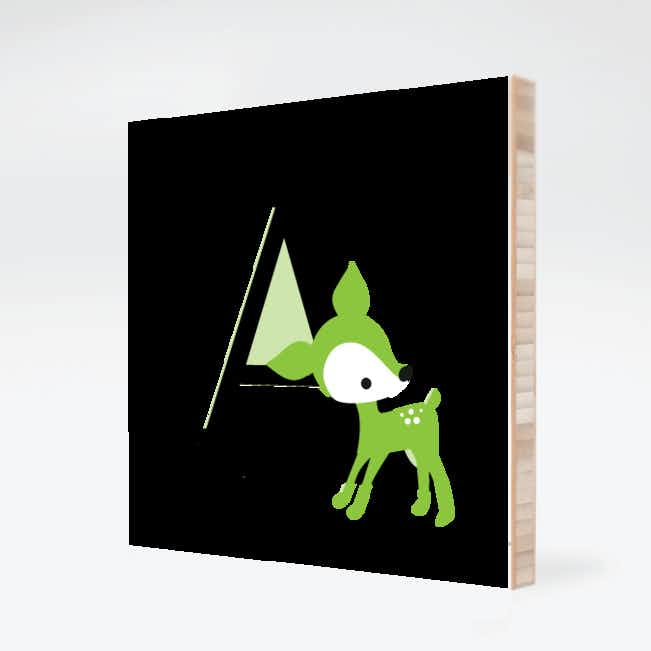 Dear Deer Bamboo Wall Art - Meadow Green