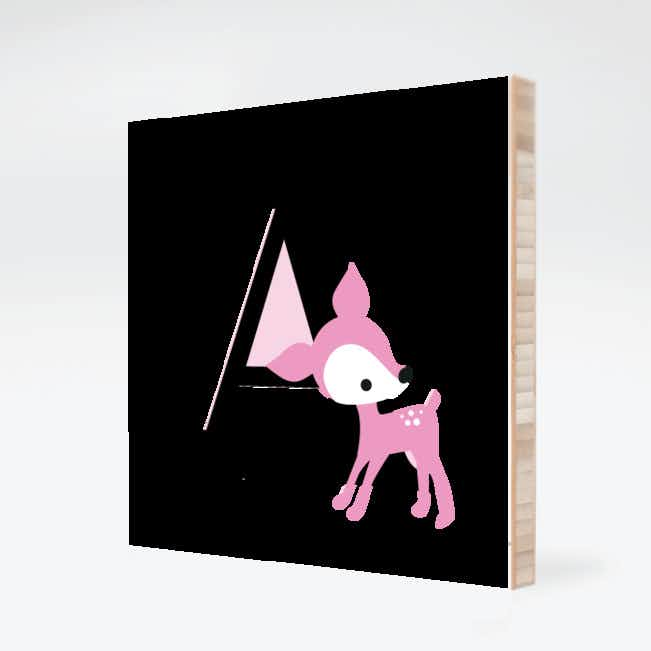 Dear Deer Bamboo Wall Art - Kiss