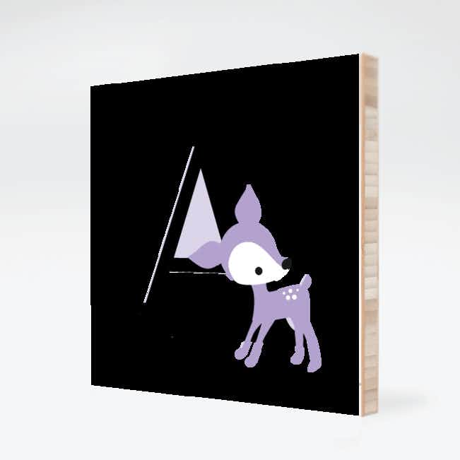Dear Deer Bamboo Wall Art - Lavender Candy