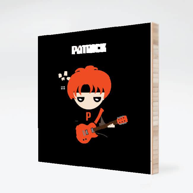 Guitar Hero / Rock Band Bamboo Wall Art - Red Rocker