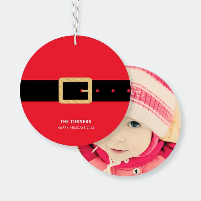 Santa Belly Christmas Ornaments - Red