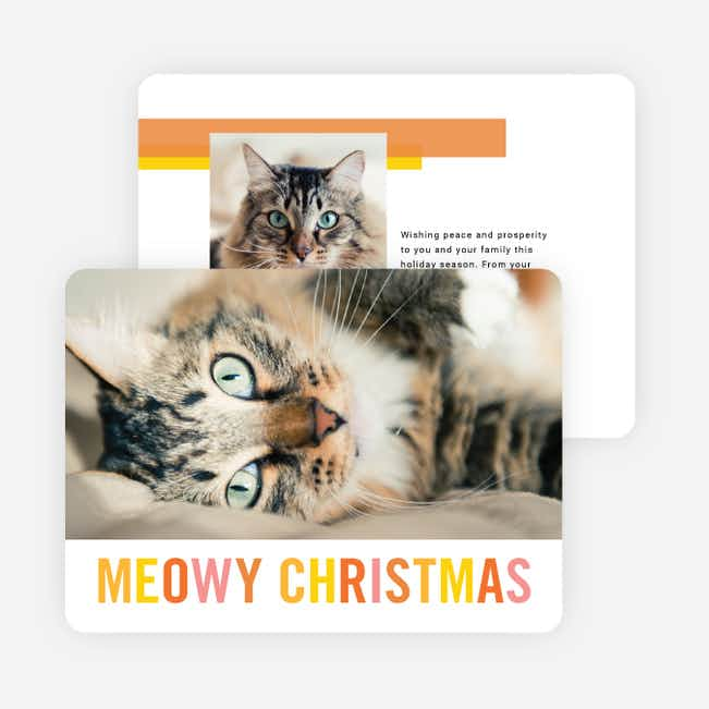 Meowy Christmas Christmas Cards - Multi