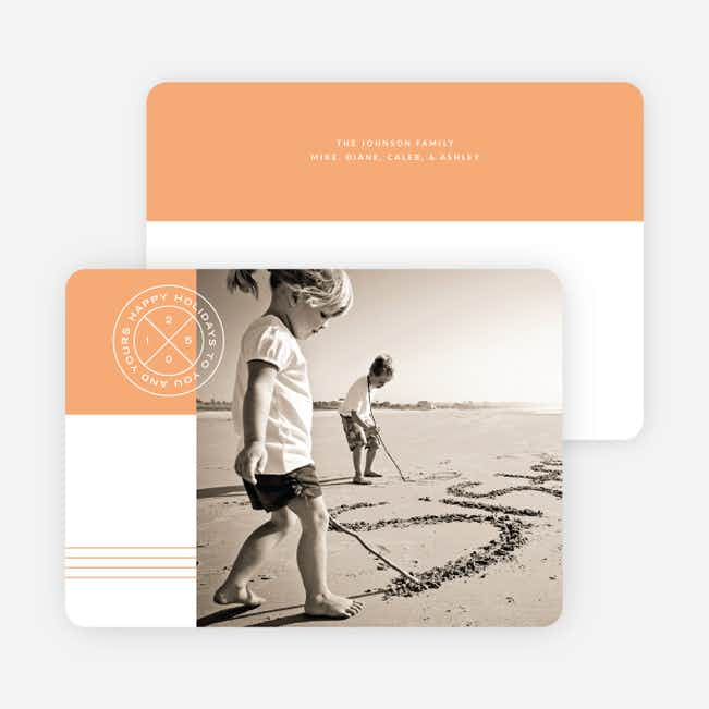 Modern Seal Holiday Cards - Orange