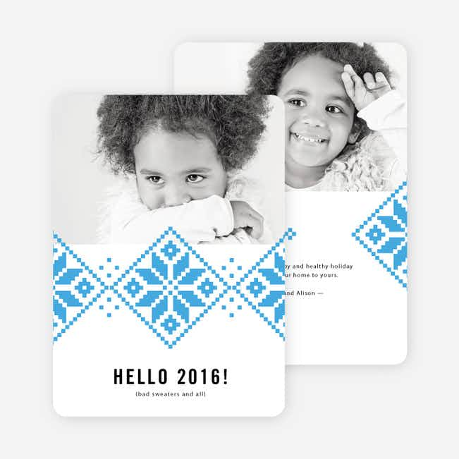 Keep Toasty New Year Cards - Blue