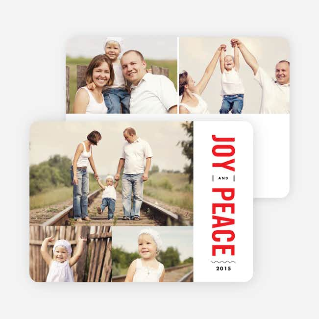 Joy and Peace Holiday Cards - Red