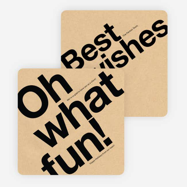 Oh What Fun Corporate Holiday Cards - Black
