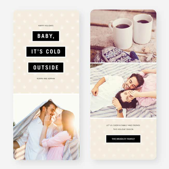 Baby It's Cold Outside Holiday Cards - Beige