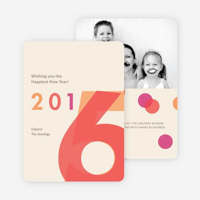 Changing Years New Year Cards - Beige