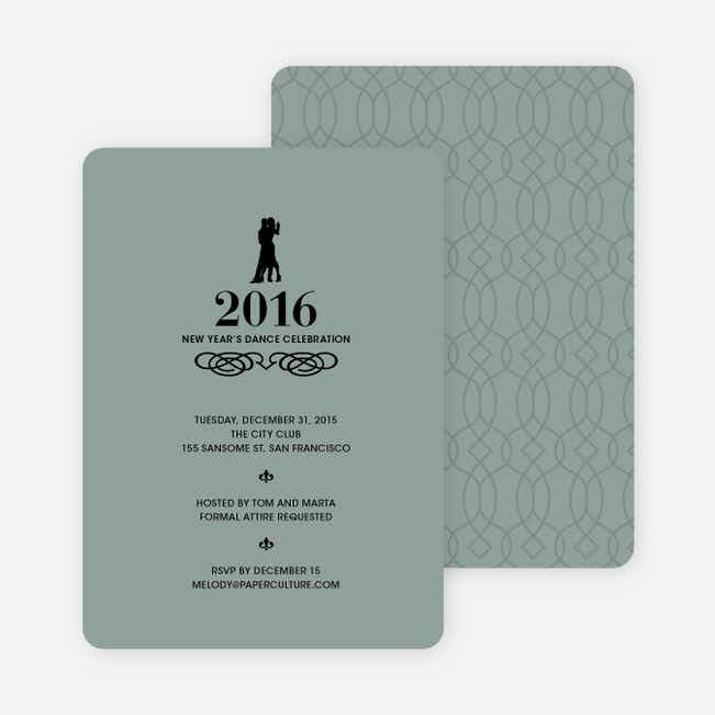 Dance Dance Not So Revolution New Year's Invitations - Grey