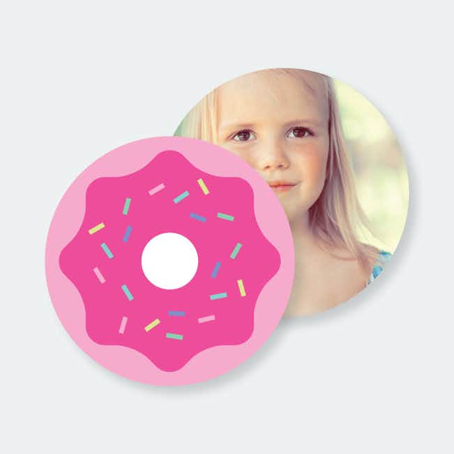 Personalized Donut Coasters - Pink