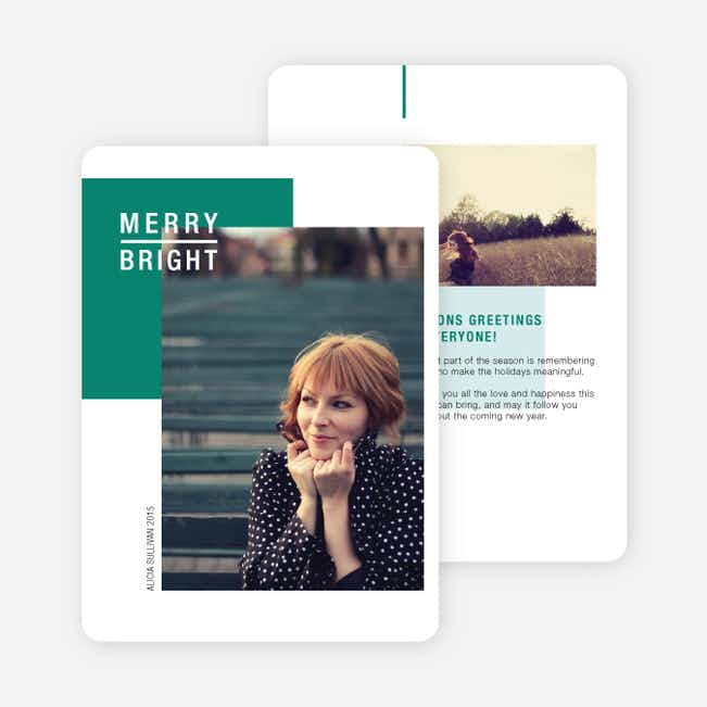 Merry and Bright Seasons Greetings - Green
