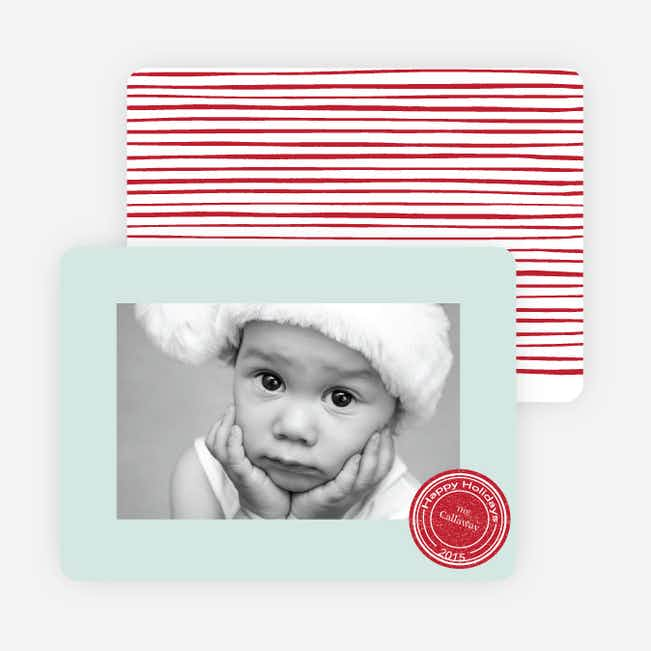 Putting a Stamp on the Holidays Cards - Blue