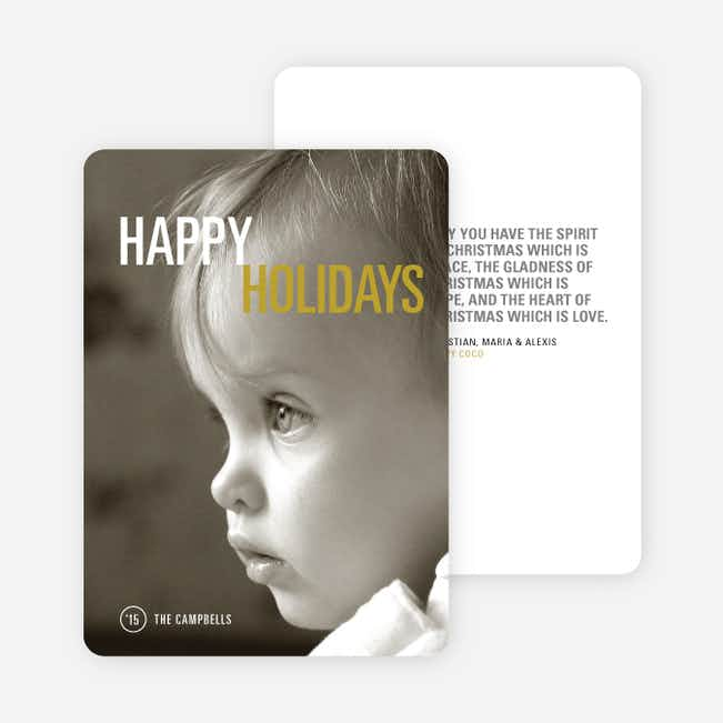 Simply Photo Christmas Card - Yellow