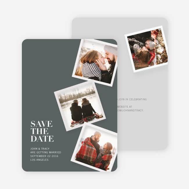 It's Raining Photos Save the Date Photo Cards - Gray